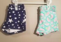 Jumping Beans Girls Knit Shorts (2 Pair) Size 5
