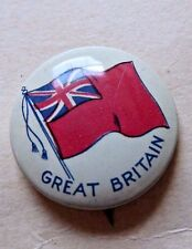 VINTAGE PINBACK BUTTON FLAG GREAT BRITAIN 1930'S
