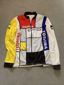 La Vie Claire Toshiba Wonder Italian XL cycling jersey LONG bicycle tour giro