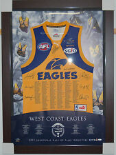 WEST COAST EAGLES HALL OF FAME SIGNED AND FRAMED LIMITED EDITION JERSEY