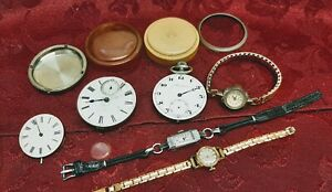 Job Lot Of Antique/Vintage Pocket & Wrist Watches Project includes Rolled Gold