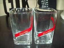 2 X JOHNNIE WALKER RED LABEL WHISKY TUMBLERS GLASSES IMMACULATE CONDITION & RARE