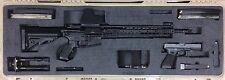 AR 15 M4 Tactical Rifle Foam Gun Case Insert Organizer for Pelican 1720