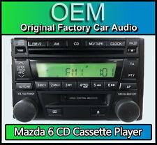 Mazda 323 6 CD player cassette tape radio stereo , Mazda 646, 6 Disc CD changer