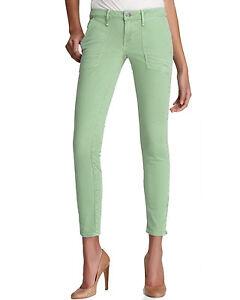 *NWT*Earnest Women's Sewn Jeans Harlan Patch Zip in Moss