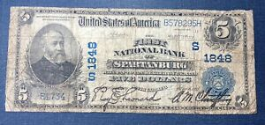 1902 $5 First National Bank of Spartanburg Bank Note #1848