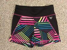 Girls Kids Justice Stretchy Shorts Black Pink Yellow Blue 12% Elastane Size 10