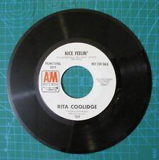 Rita Coolidge Nice Feelin' b/w Nice Feelin'  1971 A&M Records 45 Rpm