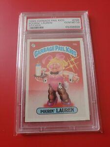 Garbage pail kids Series 2 1985 OS2 Pourin Lauren 76b glossy gem mint PSA 10