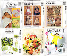 CHOICE: UNCUT McCall's Sewing Patterns Dolls Crafts Baby Child