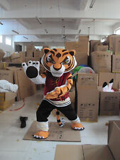 Tigress Tiger Mascot Costume Kung Fu Tiger Cartoon Fancy Dress Adult Free Ship