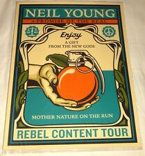 NEIL YOUNG PROMISE OF THE REAL REBEL CONTENT TOUR POSTER BY SHEPARD FAIREY OBEY!