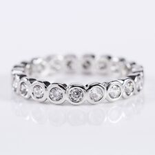 925 Silver Jewelry Women Wedding Rings Round Cut White Sapphire Ring Size 6