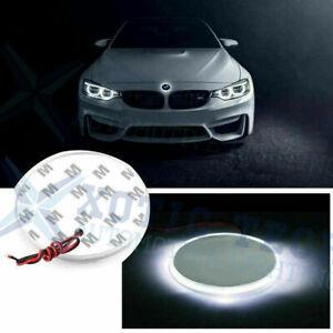 1x 82mm Emblem LED White Background Logo Light for BMW 3 4 5 6 7 X M Z Series