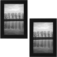 "Set of Picture Frames, Black, 4"" X 6"""