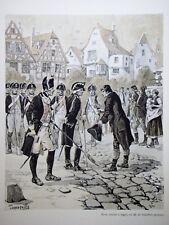 """c71-64 Gravure contes & récits d'Alsace - """"la malédiction du quartier maître"""""""