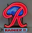 C126 STUNNING RARE VINTAGE 50'S/60'S RAINIER BEER NEON MOUNTAIN SCENE SIGN WOW!