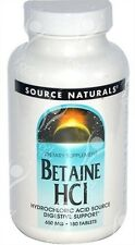 Source Naturals, Betaine HCI with Pepsin - 650mg x180tabs