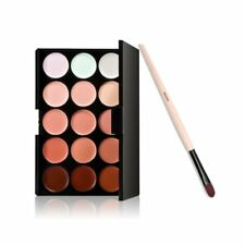 Foundation Brush + 15 Colours Face Contour Cream Concealer Camouflage Palette