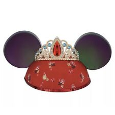 Disney Parks Elena of Avalor Mickey Minnie Mouse Ears Hat with Tiara Youth Girls