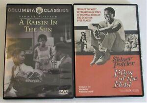 Sidney Poitier 2 DVD Lot A Raisin In The Sun & Lilies Of The Field - Kino Lorber