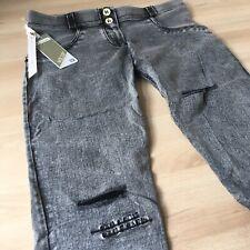 Freddy Jeans WR.UP Neu Gr. M 38 Grau Denim Ripped