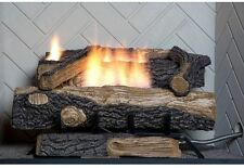Oakwood 24 in. Vent-Free Propane Gas Home Fireplace Logs, Thermostatic Control