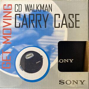 SONY ORIGINAL CD Walkman Black Carry Case with Belt Clip NEW IN Original Box