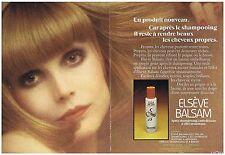 PUBLICITE ADVERTISING 114 1972 ELSEVE BALSAM aprés shampoing (2 pages)