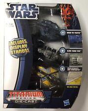 Star Wars Titanium Series Die-Cast Vehicle Droid Trifighter Clone Tank Jedi Star