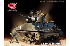 Heng Long télécommandé RC 2.4 G Tank M4A3 SHERMAN 1/16ème Pro PAS CHER