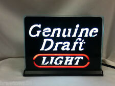 New NOS Miller beer sign lighted bar signs 1 Genuine Draft light brewery YS9