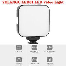 YELANGU LED01 49 Mini Camera LED Panel Light Dimmable Camcorder Video Lamp A0U1