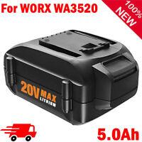 5.0Ah WA3520 For WORX WA3575 WA3578 WA3525 20V Max Lithium 5000mAh Battery WG160