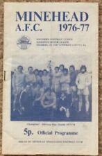 Minehead v Bristol City Friendly Programme 18 Aug 1976-77 the only 1 on ebay