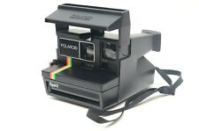 Polaroid Spirit 600 Rainbow Stripe Instant Film Camera Nice Clean