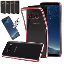 coque etui silicone bling bling  + film incurvé pour galaxy s8 / s8 plus