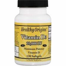 Healthy Origins Vitamin D3 10,000 IU - 120 Capsule