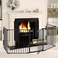 Metal Fireplace Fence Baby Safety Gates Door Pet Fence Stair 30