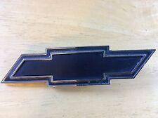"""Original 1060s 1970s 1980s Chevy Bow tie Emblem Black and Chrome 7 1/4"""""""