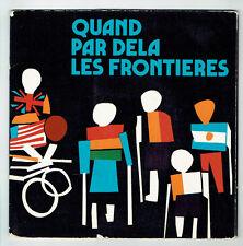 "QUAND FOR / BY DELA BORDERS Vinyl 45T 7"" EP R. FAU F. THE WILSON f RAUBER RARE"