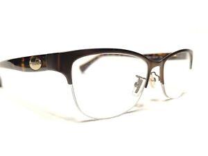 Coach HC5066 9155 Women's Satin & Tortoise Half Rim Rx Eyeglasses Frames 53/16