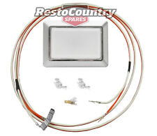 Holden Interior Light Kit CHROME Base + Lens + Wiring Loom Torana LH LX SEDAN
