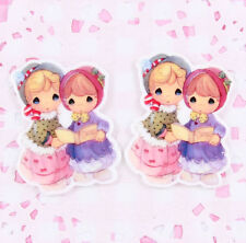 5 x Anime Style Victorian Girls Cabochon Embellishments Kawaii DIY Craft Decoden