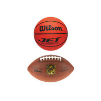 NEW Wilson Mini American balls x 2, NFL football, Basketball NCAA MINI official