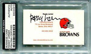 SIGNED BUSINESS CARD, RANDY LERNER, OWNER OF BROWNS, NFL