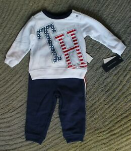 Tommy Hilfiger Baby Boys 2 Piece Sweatsuit Outfit - Size 18 Months - NWT