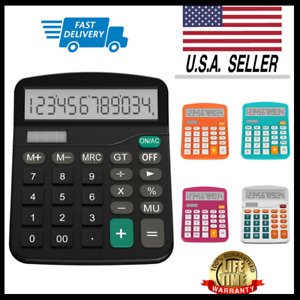 Helect Desk Calculator 12-Digit Desktop Calculator with Standard Function