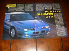 1991 PONTIAC GRAND PRIX GTP  ***ORIGINAL ARTICLE***