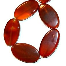 NG2584f Red Agate Large 24x18mm-35x25mm Flat Oval Gemstone Beads 14""